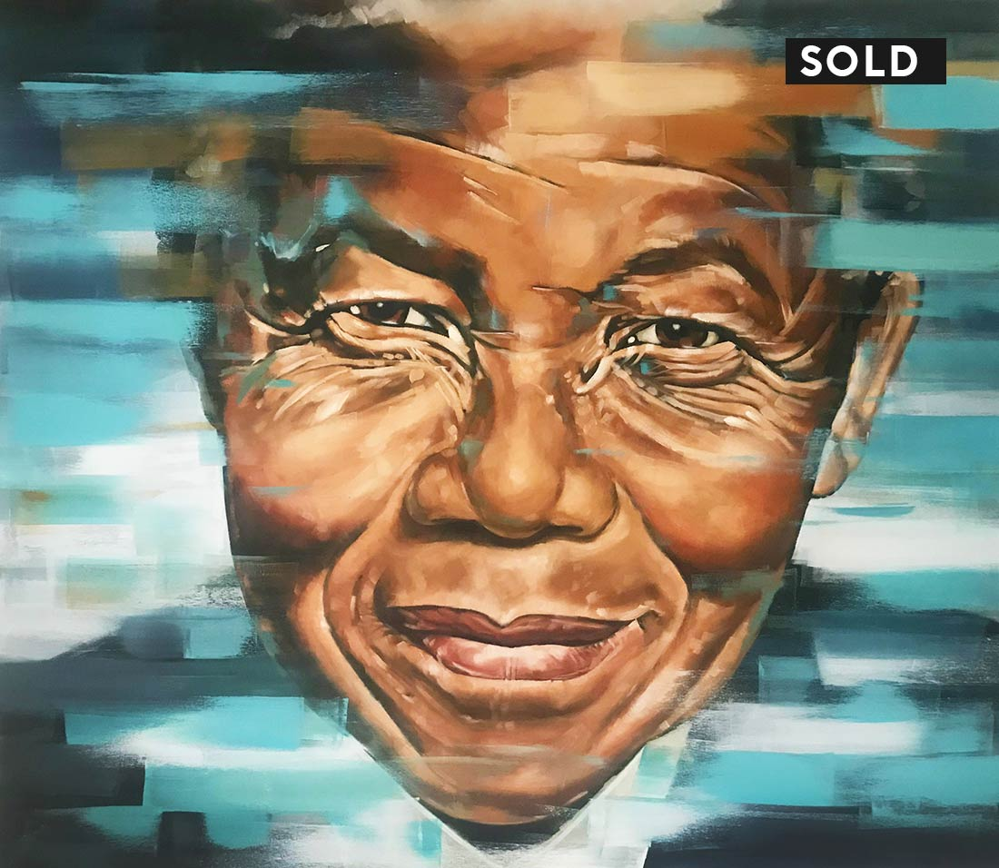 mandela oil painting