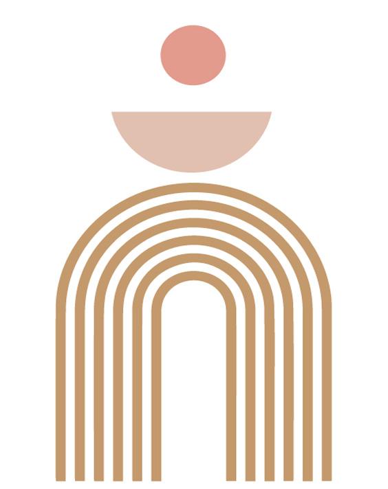 trendy minimalist art print