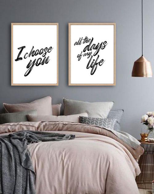i choose you decor print