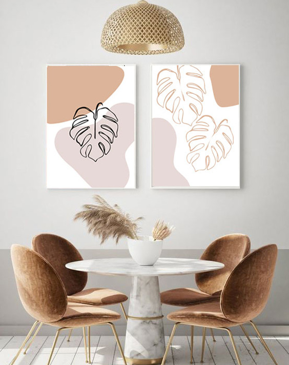 monstera leaf art prints