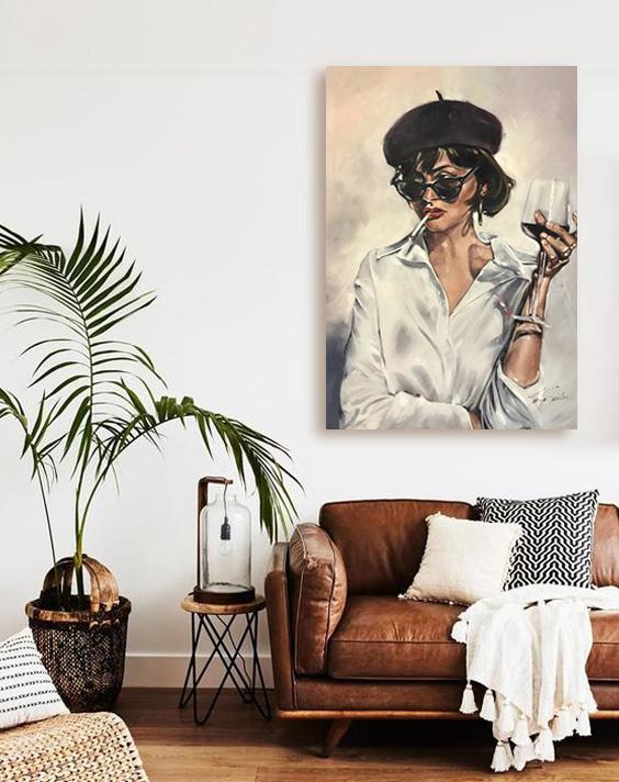 trendy art canvas print