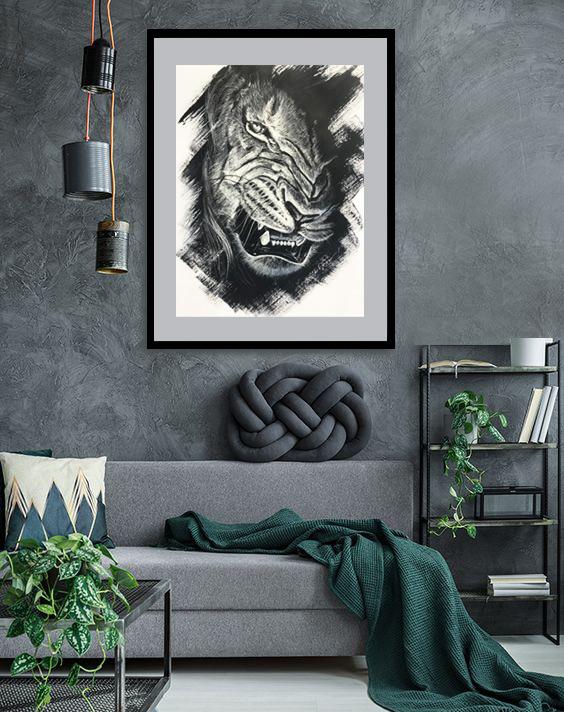 lion sneer sketch