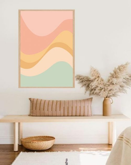 waves decor print
