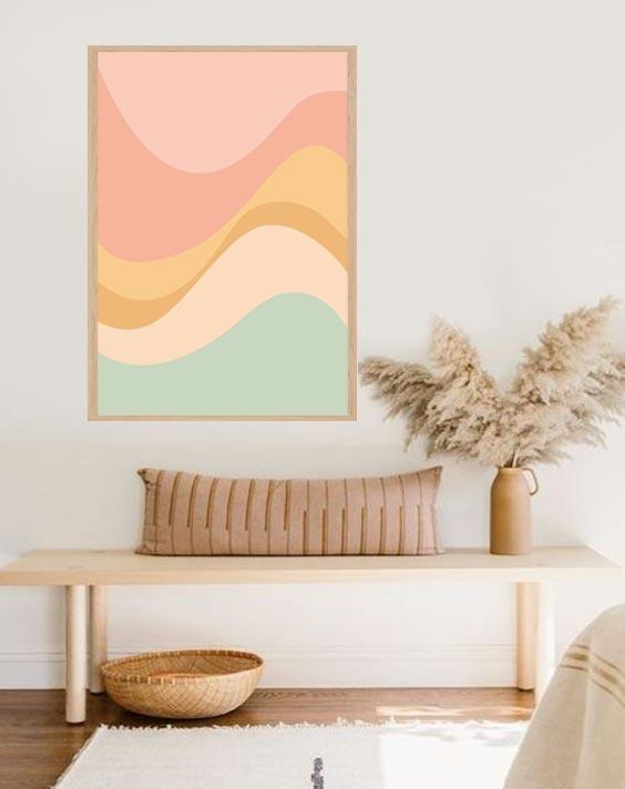 waves decor print