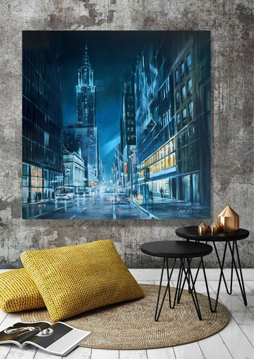 cityscape Oil painting